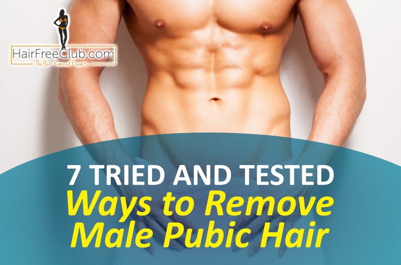 Wax or shave male pubic area
