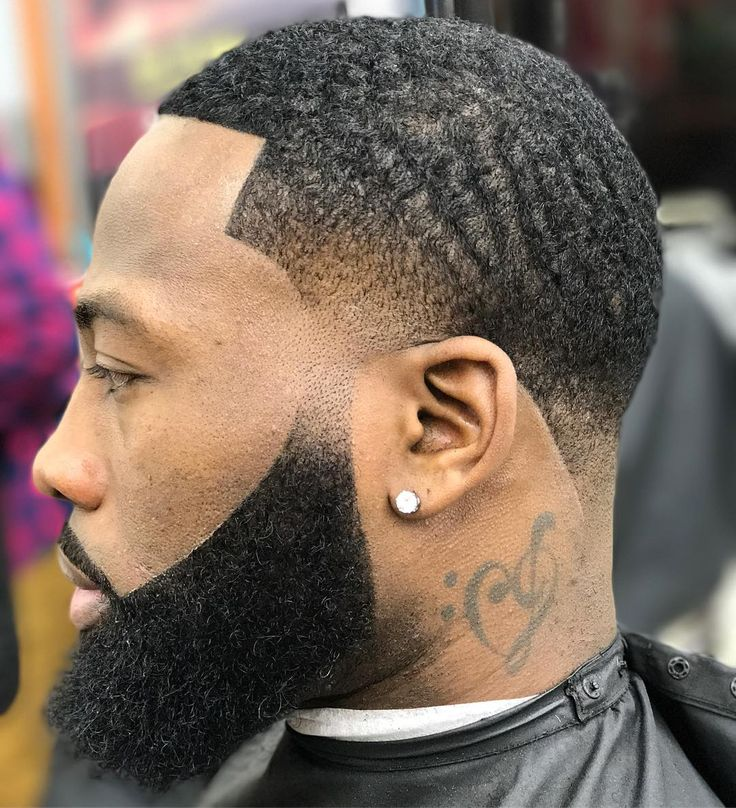 Black Men Beard Styles - Ducktail Neck Beard