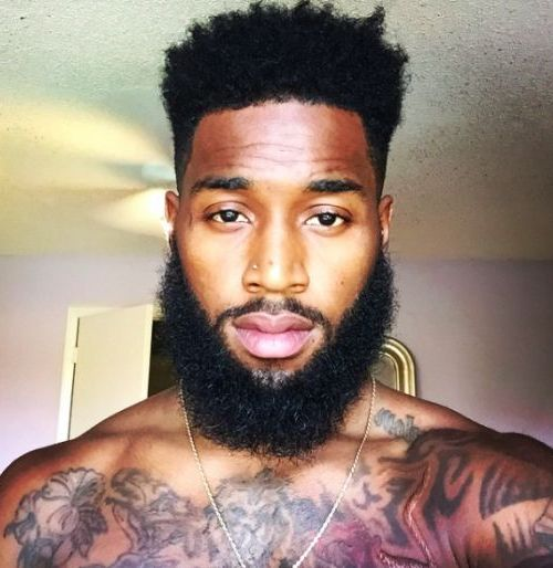 Black Men Beard Styles - Extended Goatee