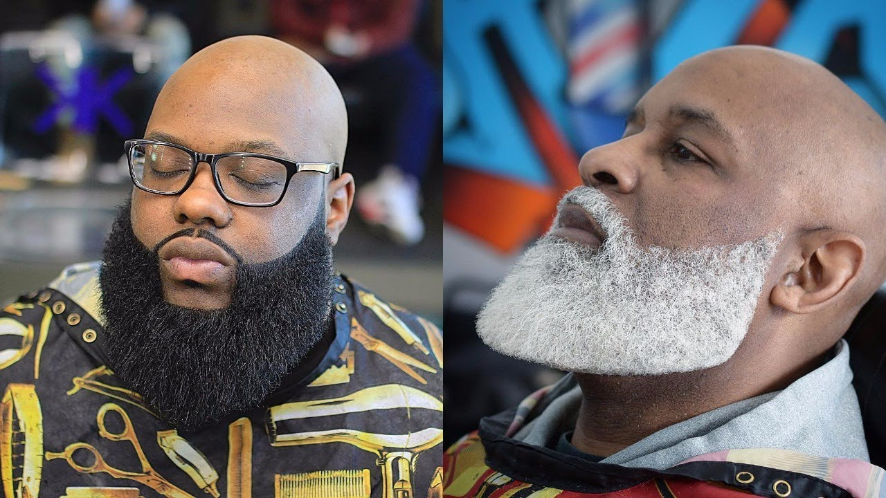 Black Men Beard Styles - Goatee with Beard Extension