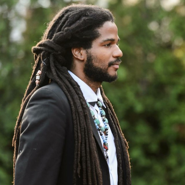 Black Men Beard Styles - Dreadlocks and Short Beard
