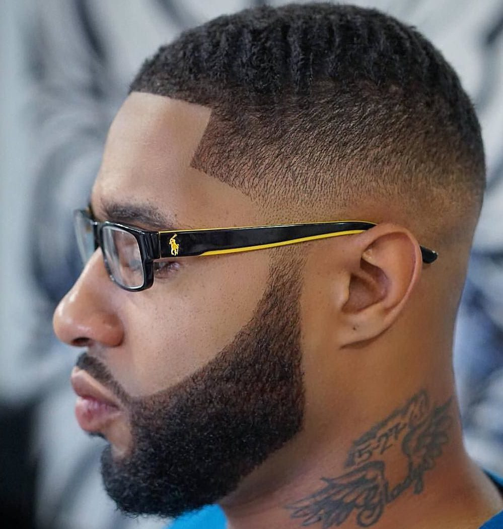 Black Men Beard Styles - Smooth with Fade