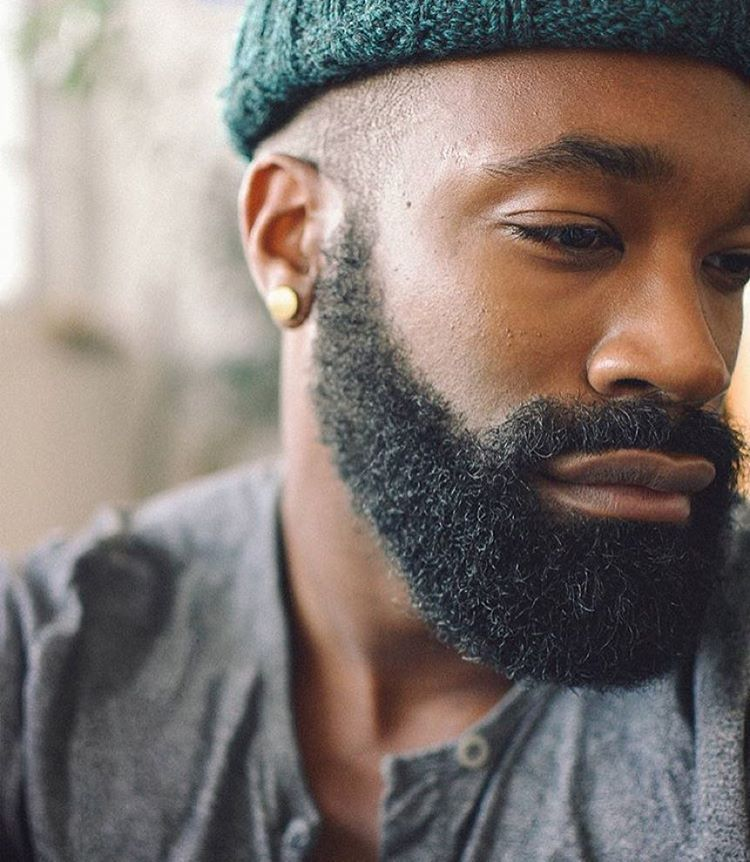 Black Men Beard Styles - Straight and Curly