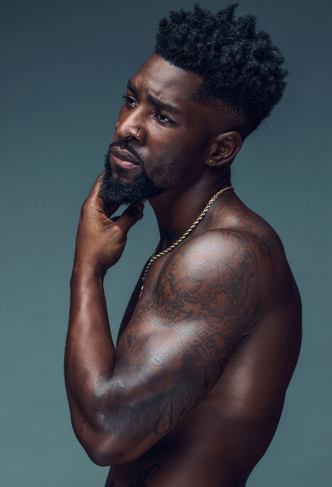 Black Men Beard Styles - Tight Beard